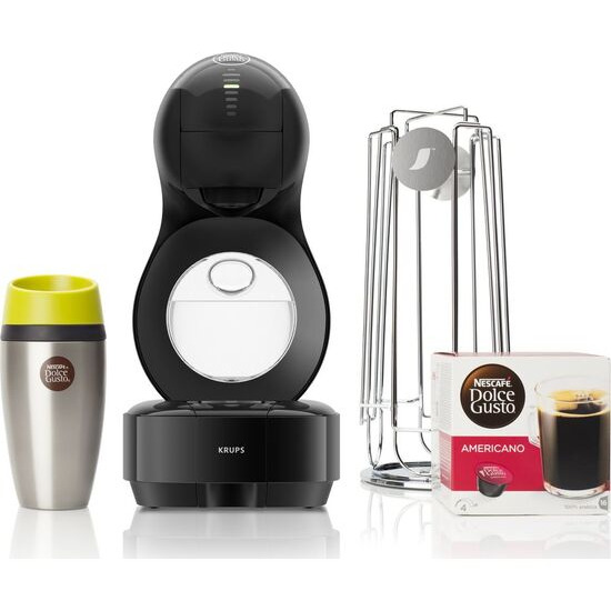 Dolce Gusto by Krups Lumio KP138BUN Coffee Machine Travel Kit - Black