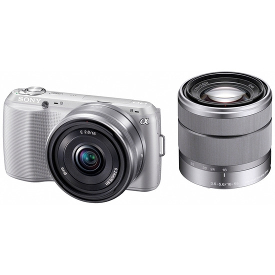 Sony Alpha NEX-C3D with 16mm and 18-55mm lenses