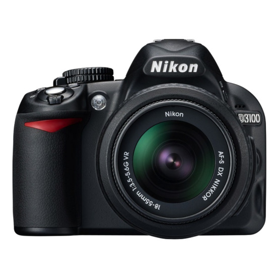 Nikon D3100 with 18-55mm lens