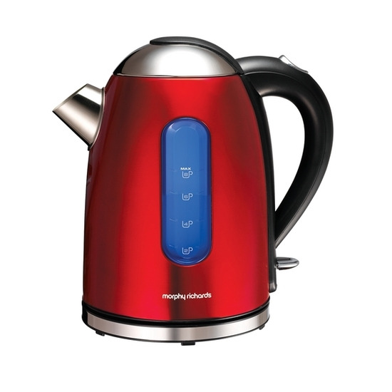 Morphy Richards 43916 Meno Cordless Kettle - Translucent Red Stainless Steel