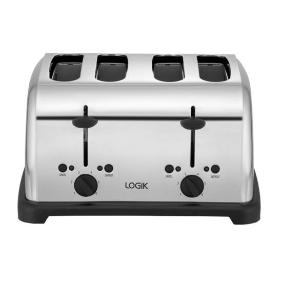Logik L04TPS11 4-Slice Toaster - Stainless Steel