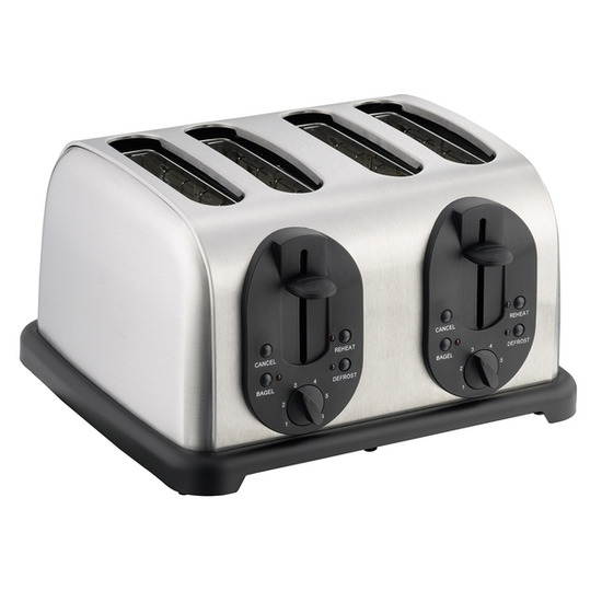 Logik L04TBS11 4-Slice Toaster - Stainless Steel