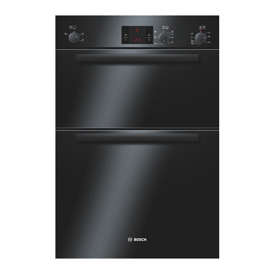 BOSCH Avantixx HBM13B261B Built-in Electric Double Oven - Black