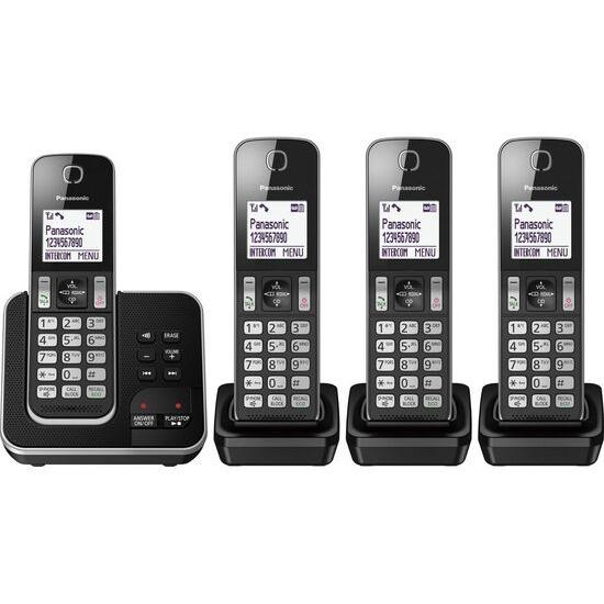 Panasonic KX-TGD624EB Cordless Phone - Quad Handsets