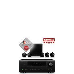 Boston Acoustics SoundWare XS 5.1 and Denon AVR-1312 Bundle With Free Cable Pack