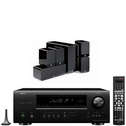 Q Acoustics 2000 Series Speaker Package And Denon AVR 1612 AV Receiver With Free Cable Pack