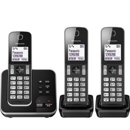 Panasonic KX-TGD623EB Cordless Phone - Triple Handsets