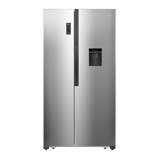 LOGIK LSBSDX18 American-Style Fridge Freezer - Inox Silver
