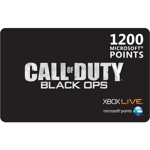 Photo of Microsoft Call Of Duty Black Ops XBOX Live 1200 Microsoft Points Games Console Accessory