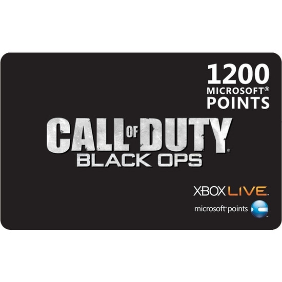 Microsoft Call of Duty Black Ops Xbox Live 1200 Microsoft Points