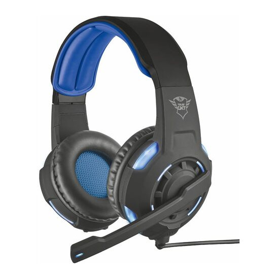 TRUST GXT 350 Radius 7.1 Gaming Headset - Black & Blue