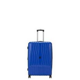 IT Luggage 8 Wheel Hard Metallic Blue Suitcase