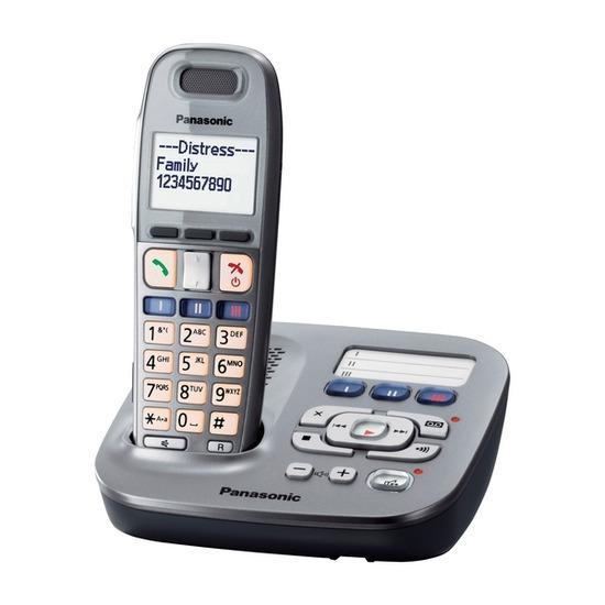 Panasonic KX-TG6591EM Digital Cordless Telephone with Answering Machine