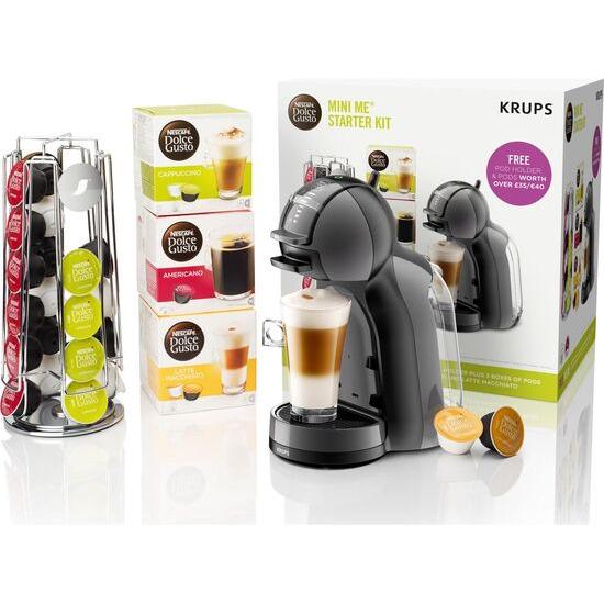 Dolce Gusto by Krups Mini Me KP128BUN Coffee Machine Starter Kit - Black & Grey
