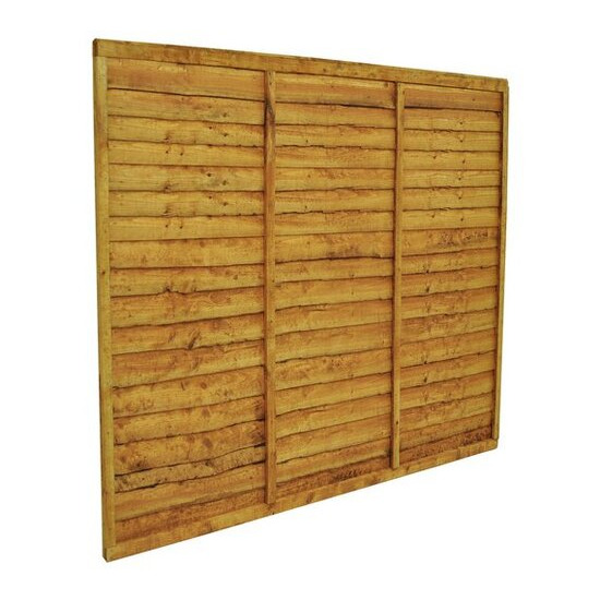 Forest Garden Overlap Fence Panel - Pack of 3