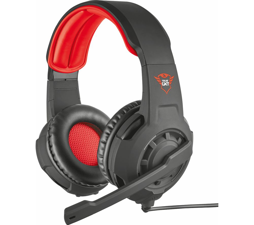 6207adc70de TRUST GXT 310 Radius Gaming Headset - Black & Red Reviews - Compare ...