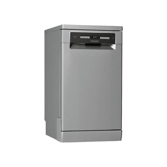 Hotpoint HSFO 3T223 W X UK Slimline Dishwasher - Graphite