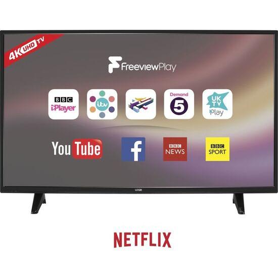 LOGIK L43UE18 43 LED Smart 4K Ultra HD TV
