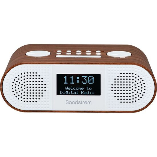 SANDSTROM S-DBTW18 DAB+/FM Bluetooth Clock Radio - Wood