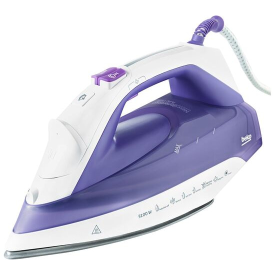 Beko SteamXtra Prosmart Steam Iron - Purple & White