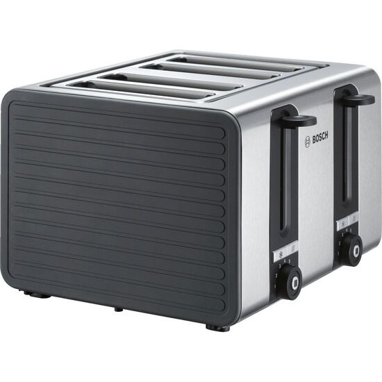 Silicone TAT7S45GB 4-Slice Toaster - Black and Grey