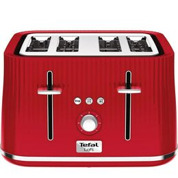 Tefal Loft TT60540 4-Slice Toaster - Cherry Red Reviews