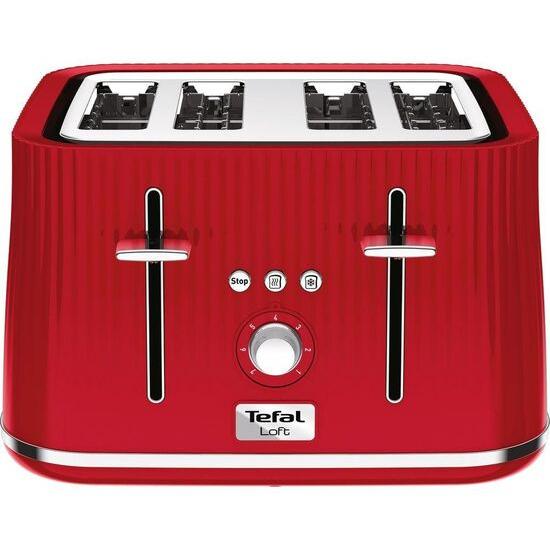 Tefal Loft TT60540 4-Slice Toaster - Cherry Red