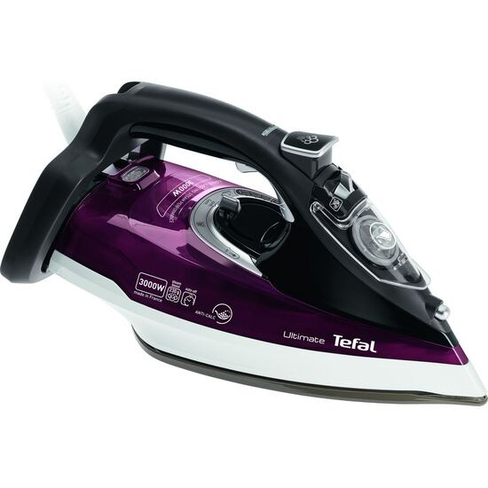 Tefal Ultimate Anti-Scale FV9788 Steam Iron - Maroon and Black