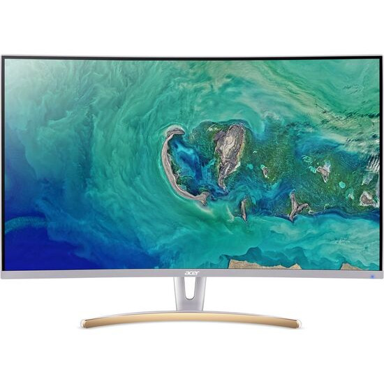 Acer ED323QURwidpx Quad HD 31.5 Curved VA LCD Monitor - White & Gold