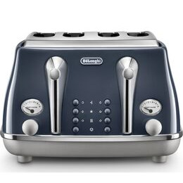 DELONGHI Icona Capitals CTOC4003.BL 4-Slice Toaster - Blue Reviews