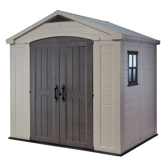Keter - Apex Plastic Garden Shed 8 x 6ft