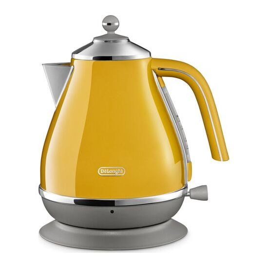 DELONGHI Icona Capitals KBOC3001.Y Jug Kettle - Yellow