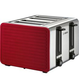 Bosch TAT7S44GB 4-Slice Toaster - Red & Silver Reviews