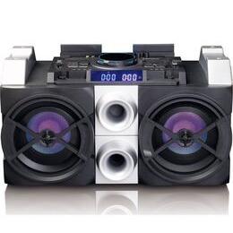 LENCO PMX-150 Bluetooth Megasound Party Speaker - Black & Silver