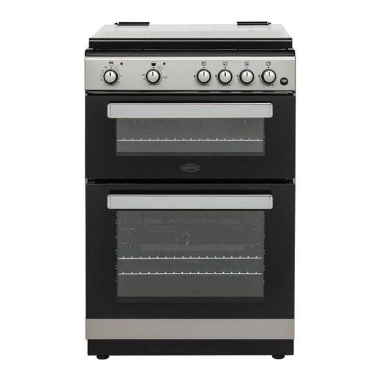 Belling FSDF608D 60 cm Dual Fuel Cooker - Silver & Black