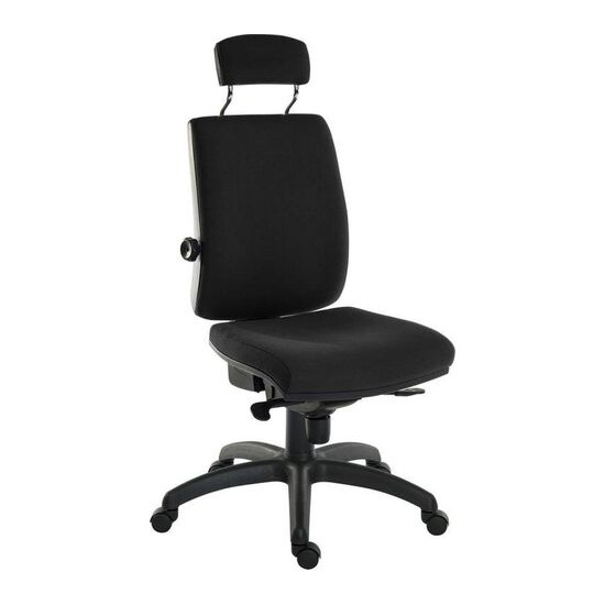 Teknik Ergo Plus Fabric Tilting Operator Chair - Black