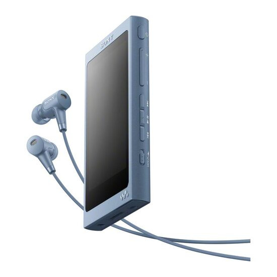 Sony Walkman NW-A45HN Touchscreen MP3 Player with Noise-Cancelling Headphones - 16 GB Blue