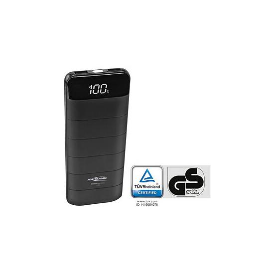 Ansmann Powerbank 12.8 12000mAh with LCD Display & LED Light - Black