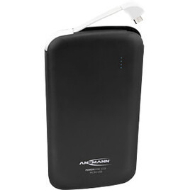 Ansmann Powerbank 10.8 10000mAh Integrated Micro USB Rechargeable Battery Pack - Black