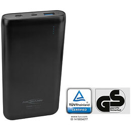 Ansmann Powerbank 20.8 20000mAh Type C + Quick Charge 3.0 Rechargeable Battery Pack - Black