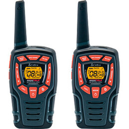 Cobra AM845 PMR 2 Way Walkie Talkie - 10km Range - Twin Pack