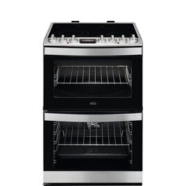 AEG CCS6741ACM 60 cm Electric Ceramic Cooker - Stainless Steel Reviews