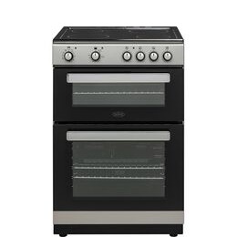 Belling FSE608D 60 cm Electric Ceramic Cooker - Silver & Black Reviews