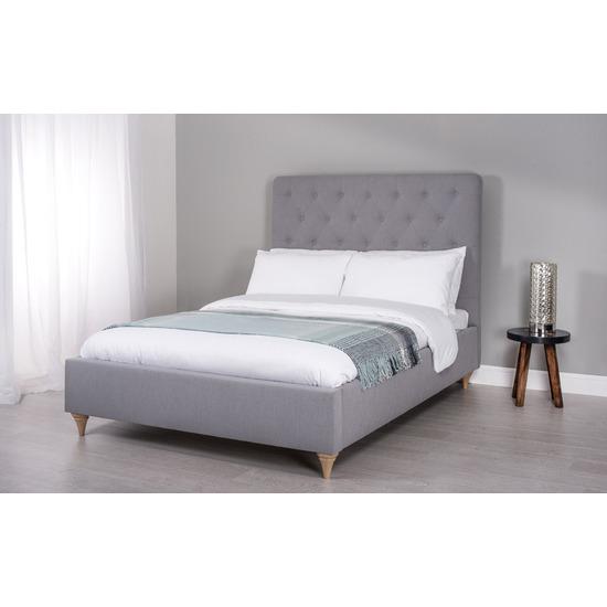 Cadot Rosa Grey Fabric Bed