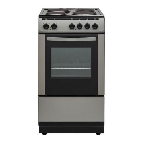 ESSENTIALS CFSESV18 50 cm Electric Solid Plate Cooker Inox