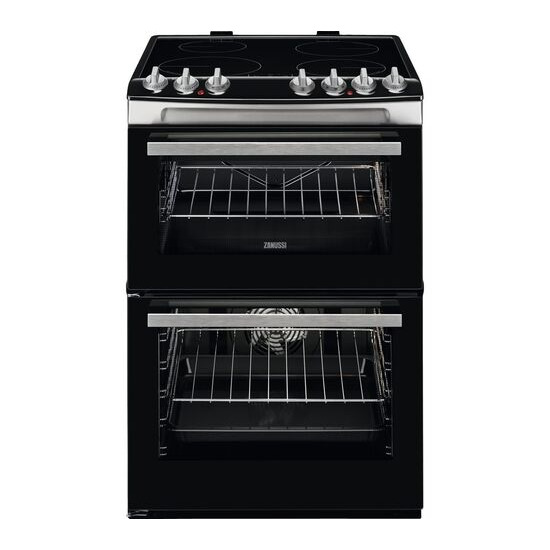 Zanussi ZCI69060XE 60 cm Electric Induction Cooker - Black & Stainless Steel