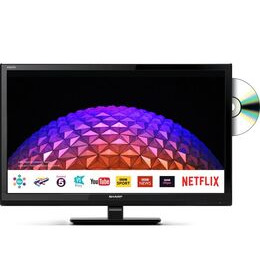 Sharp LC-24DHG6001KF 24 Smart LED TV with Built-in DVD Player Reviews