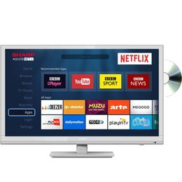 Sharp LC-24DHG6001KW 24 Smart LED TV with Built-in DVD Player - White Reviews