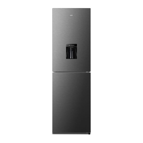 Logik LNFD55T18 50/50 Fridge Freezer - Black Steel