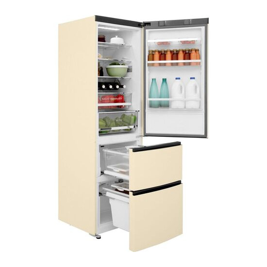Haier A3FE635CCJ 70/30 Fridge Freezer - Cream